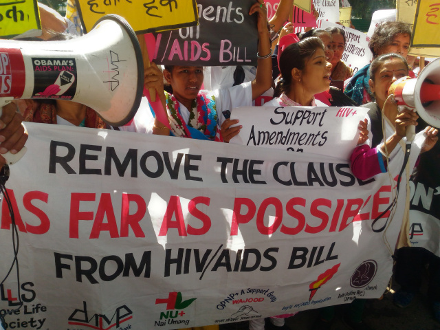 HIV AIDS Bill India Protest