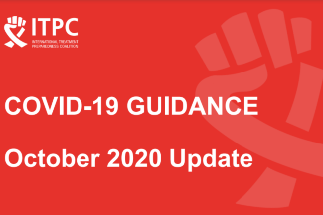 covid 19 guidance ITPC october update